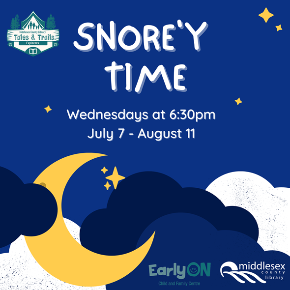 Snore'y Time Wednesdays, 6:30 pm on Zoom