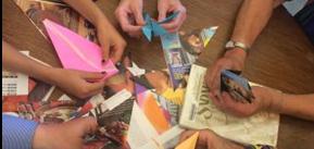 Origami crane making