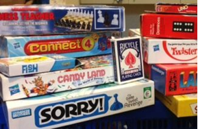 boxes of board games