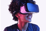 teen wearing VR glasses
