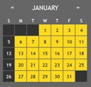 a calendar of the month of January