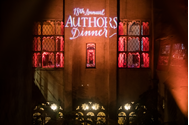 a photo of the lighting at the authors dinner