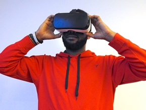 Person with VR goggles