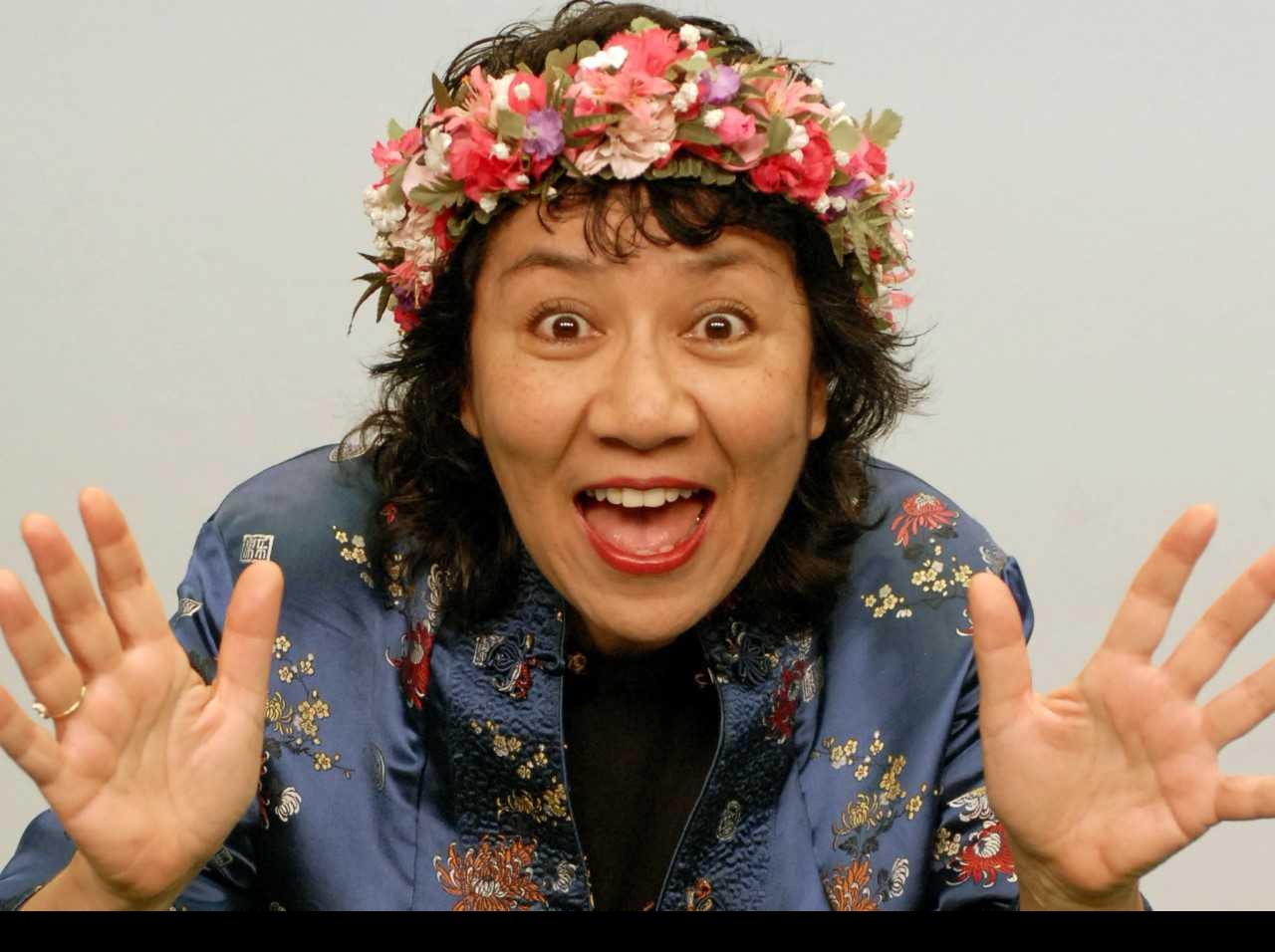 Storyteller Barbara Wong in her costume