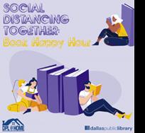 graphic for Book happy hour, Dallas Public Library