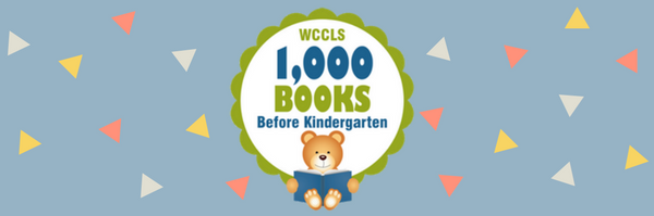 One thousand books before kindergarten banner