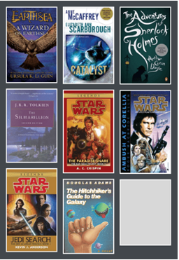 collage of 9 book jackets