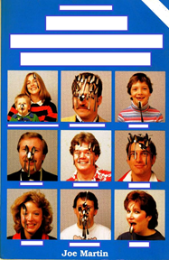 Untitled book cover - people with spoons on their faces