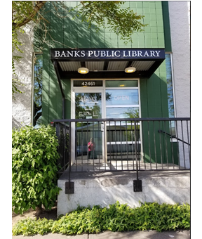 exterior view of Banks Public Library