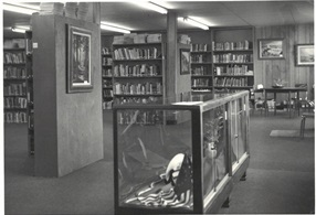 interior photo of Tigard Public Library circa 1976