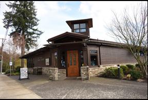 exterior shot of North Plains Public Library