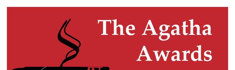 2018 Agatha Award winners -- flyer