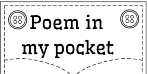 Click to print Poem in my Pocket templates for students
