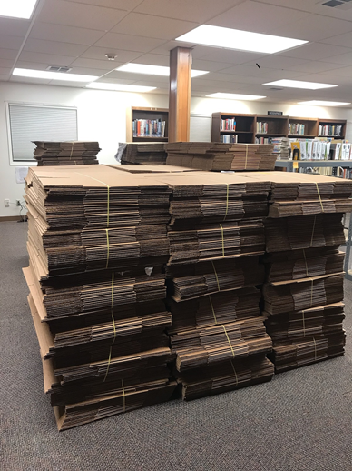 IMAGE OF A STACK OF BOXES