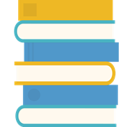 graphic of a stack of books