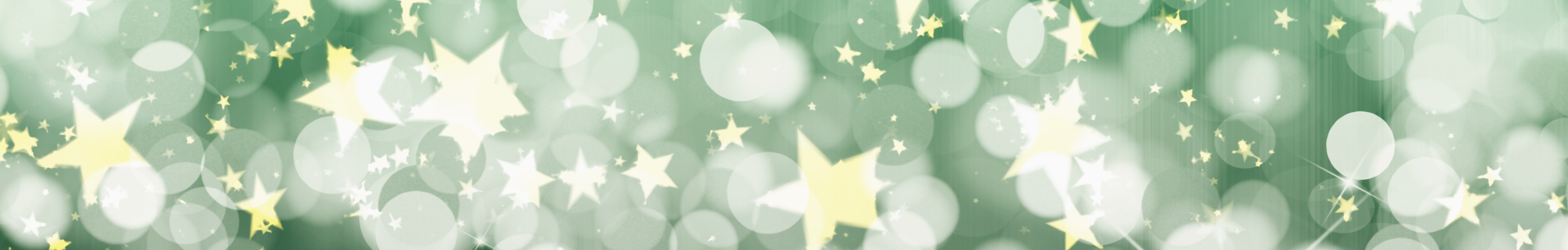 Stars and bubble pattern on a green background