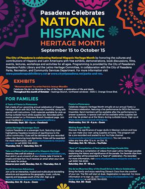 Pasadena Celebrates National Hispanic Heritage Month