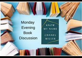 Evening book discussion logo