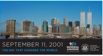September 11 20th anniversary commemoration poster exhibition logo