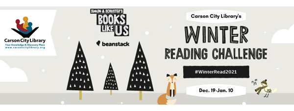 Winter Reading Challenge: Books Like Us. Sign up at carsoncitylibrary.org