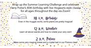 Summer Learning Challenge Kick-Off Party June 13.