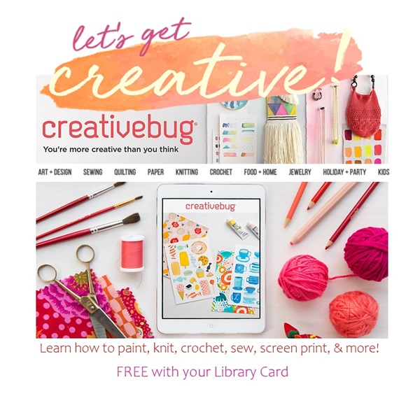 Creativebug: Craft tutorials for free with your library card!