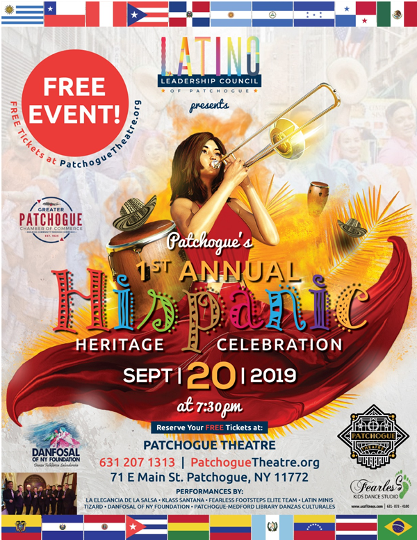 Hispanic Heritage Celebration -- for more information call 631-207-1313