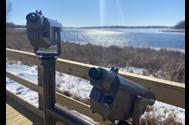 Scopes on Lower Mud Lake overlook