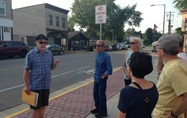 Picture of patrons on a McFarland walking tour
