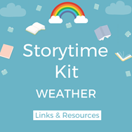 graphic of weather storytime kit
