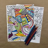 sample of coloring with pencils