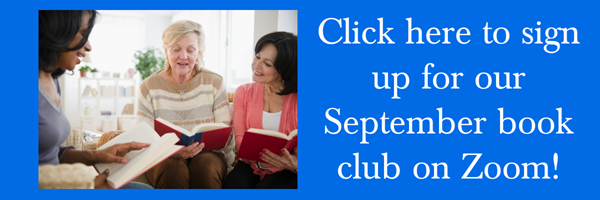 Three women at a book club meeting