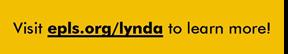 Hyperlink to epls.org/lynda