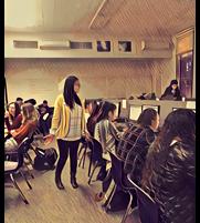 Joanna and students at Analy High