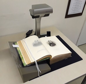 New overhead scanner at the H&G Library