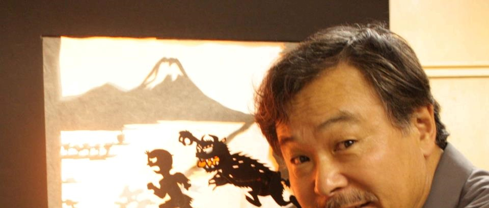 Sunny Seki with shadow puppets