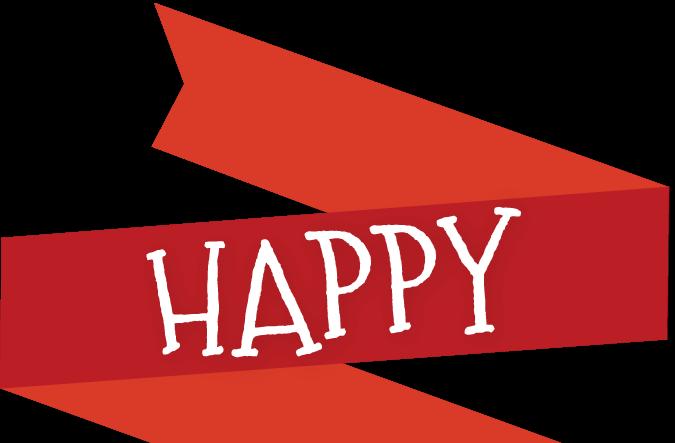 Happy Holidays Ribbon
