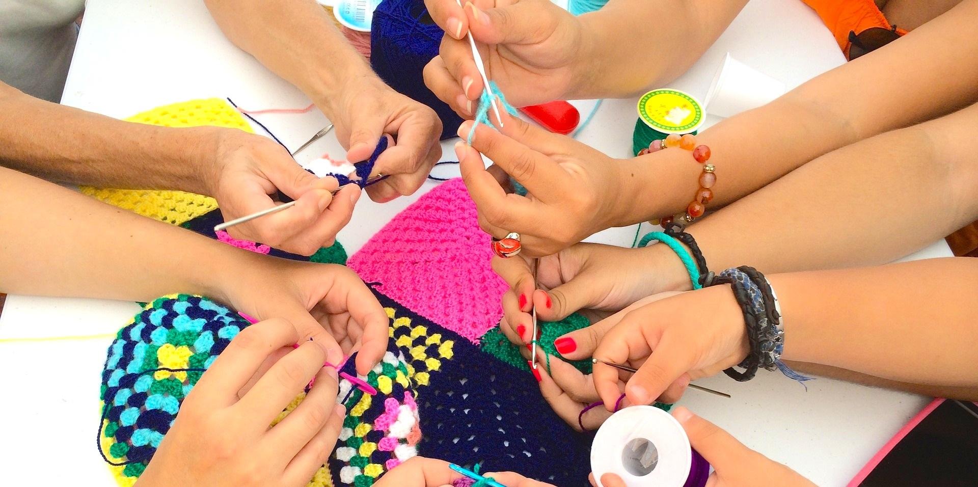 needlework hands