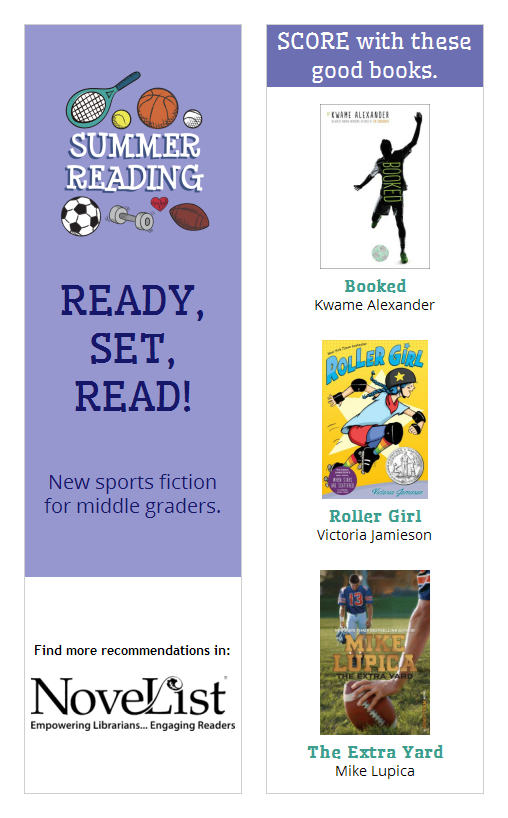 New sports fiction for middle graders bookmark