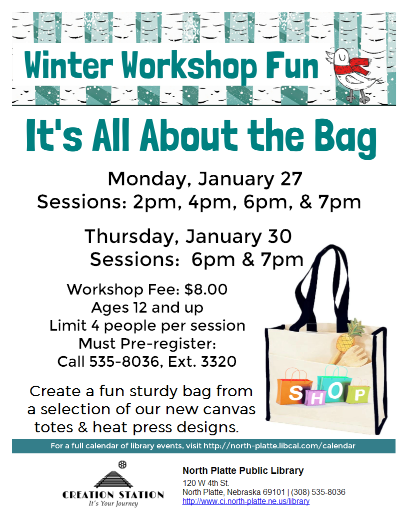 Winter Workshop Fun: It's All About the Bag