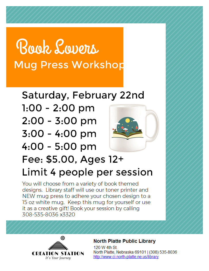 Book Lovers Mug Press Workshop