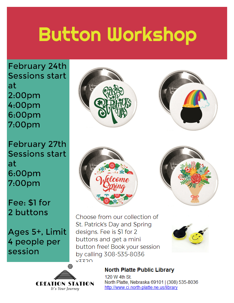 Mini-Button Workshop Poster
