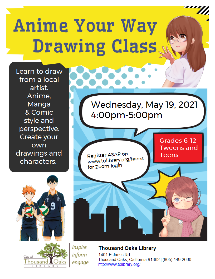 Anime Your Way Drawing Class