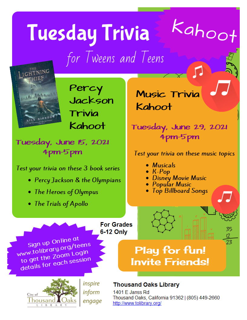 Kahoot Trivia Tuesday - PERCY JACKSON