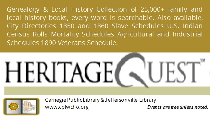 Genealogy | Carnegie Public Library - Washington Courthouse